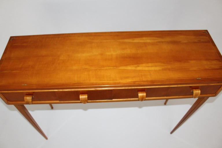 Mid-Century Modern Vintage Cherrywood Sideboard with drawers Italy, 1950s For Sale 1