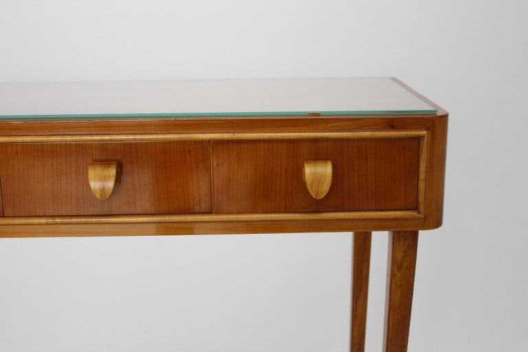 Mid-Century Modern Vintage Cherrywood Sideboard with drawers Italy, 1950s For Sale 2