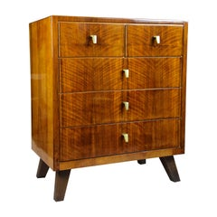 Mid-Century Modern Chest of Drawers/ Commode Nut Wood, Austria, circa 1960