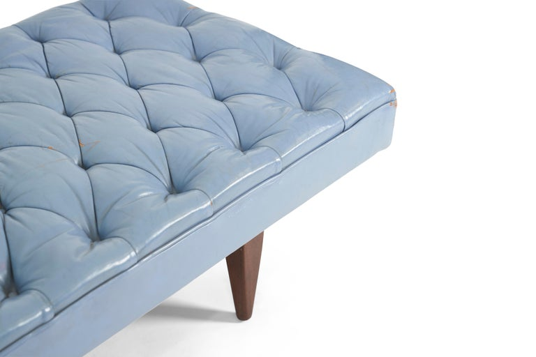 American Kipp Stewart Chesterfield Tufted Leather Daybed, Calvin Furniture 1960s For Sale