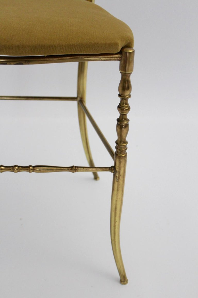 Mid-Century Modern Chiavari Brass Vintage Side Chair, 1960s, Italy For Sale 1