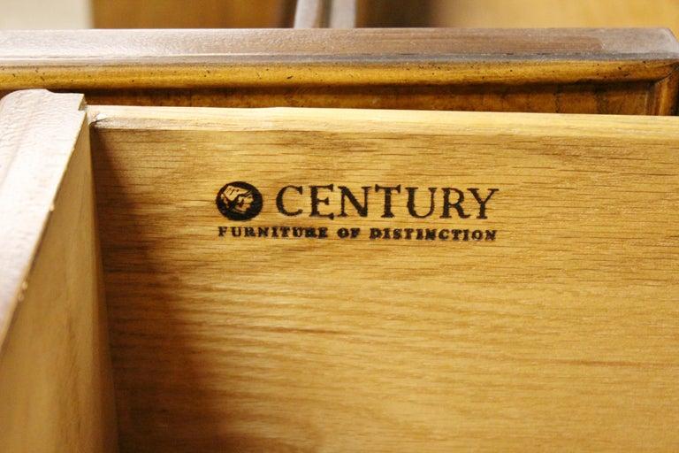 Mid-Century Modern Chin Hua Century Burl Wood and Brass Credenza Dresser, 1970s 4