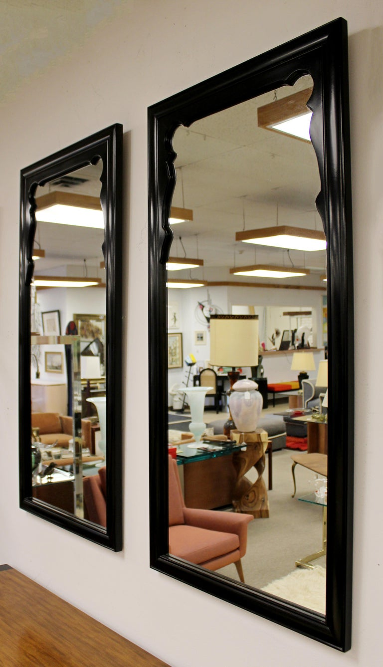 Mid-Century Modern Chin Hua Oriental Style Century Furniture Wall Mirrors, 1970s In Good Condition For Sale In Keego Harbor, MI