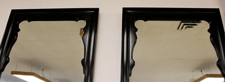 Late 20th Century Mid-Century Modern Chin Hua Oriental Style Century Furniture Wall Mirrors, 1970s For Sale