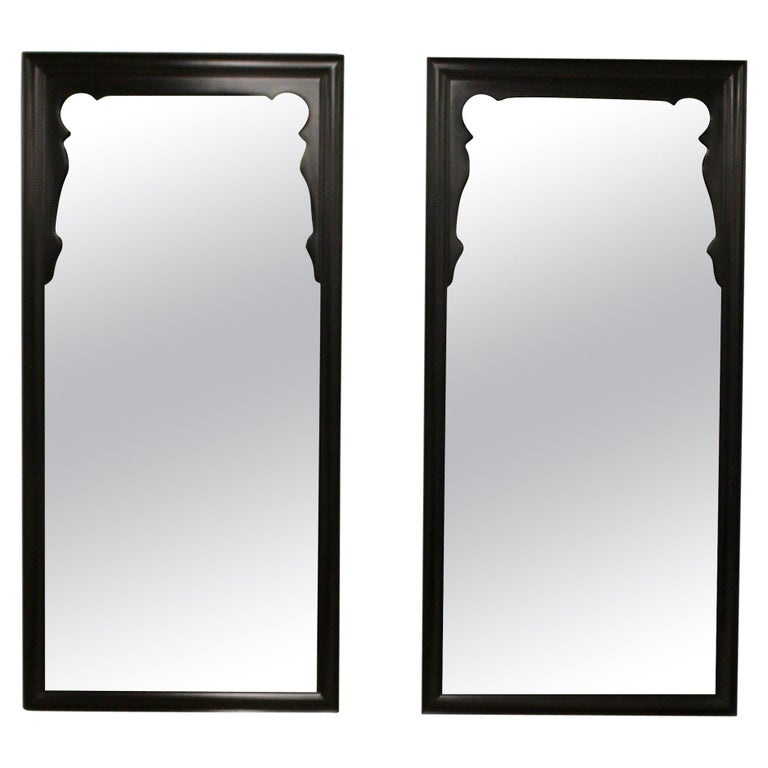 Mid-Century Modern Chin Hua Oriental Style Century Furniture Wall Mirrors, 1970s For Sale