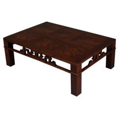 Mid-Century Modern Chinese Style Mahogany Coffee Table, Heritage Henredon