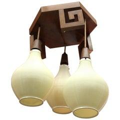 Mid-Century Modern Chinoiserie Style Lantern Chandelier