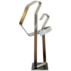 Mid-Century Modern Chrome Aluminum Metal Abstract Table Sculpture Dan Murphy