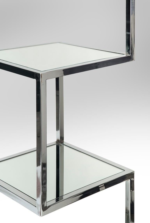 Mid-Century Modern Chrome and Mirror Glass 4 Shelf Etagere ...