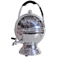 Mid-Century Modern Chrome Ball Machine Age Electric Coffee Percolator U.S.A.