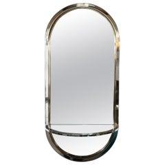 Mid-Century Modern Chrome, Brass and Mirror