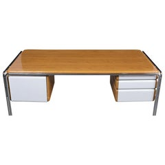 Mid-Century Modern Chrome Desk
