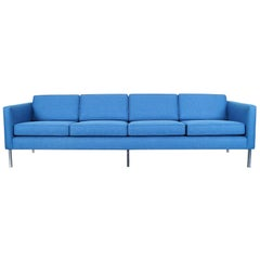 Mid-Century Modern Chrome Sofa in the Manner of Harvey Probber