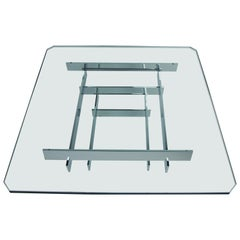 Mid-Century Modern Chrome Stacked Coffee Table by Paul Mayen for Habitat