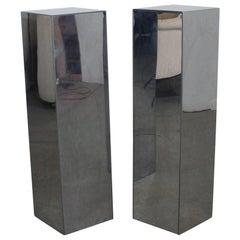 Mid-Century Modern Chrome Steel Pedestal/Stands