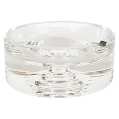 Mid-Century Modern Circular Crystal Ashtray by Rosenthal