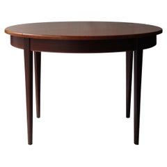 Mid-Century Modern Circular Rosewood Italian Extendable Dining Table, 1950