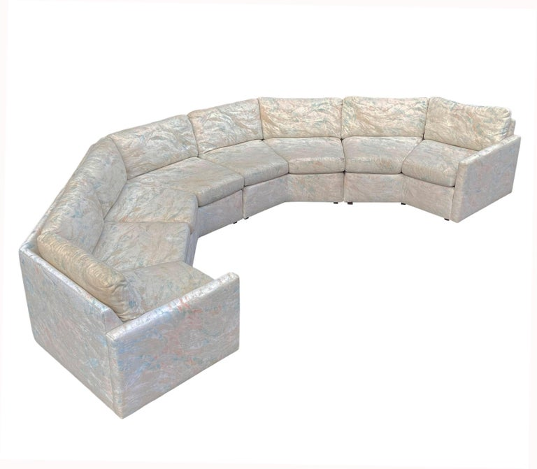 Mid-Century Modern Circular Sectional Sofa by Milo Baughman for Bernhardt For Sale 4
