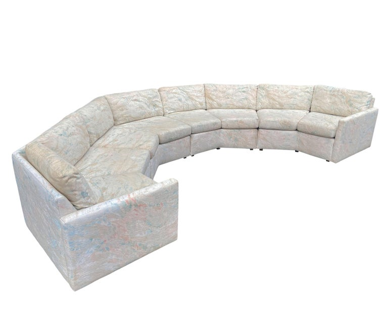 American Mid-Century Modern Circular Sectional Sofa by Milo Baughman for Bernhardt For Sale