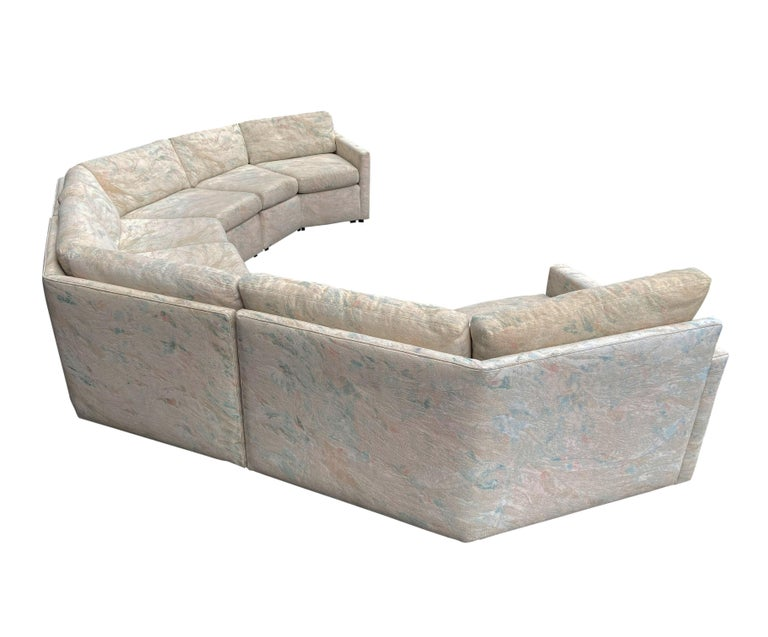 Mid-Century Modern Circular Sectional Sofa by Milo Baughman for Bernhardt In Good Condition For Sale In Philadelphia, PA
