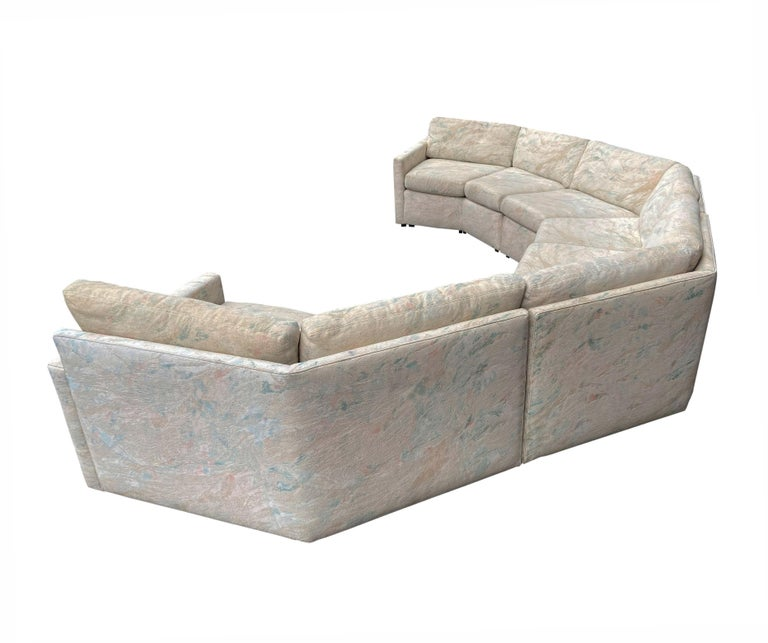Mid-Century Modern Circular Sectional Sofa by Milo Baughman for Bernhardt For Sale 1