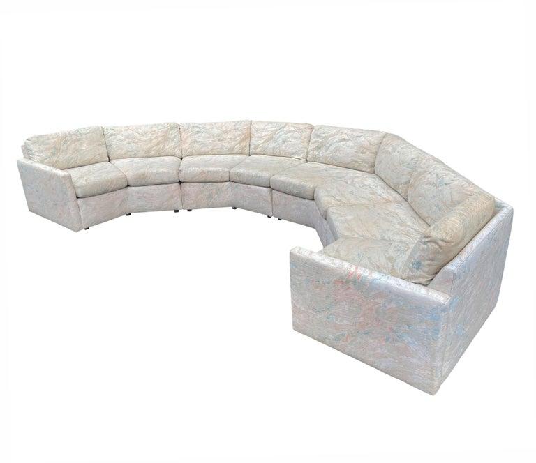Mid-Century Modern Circular Sectional Sofa by Milo Baughman for Bernhardt For Sale 2