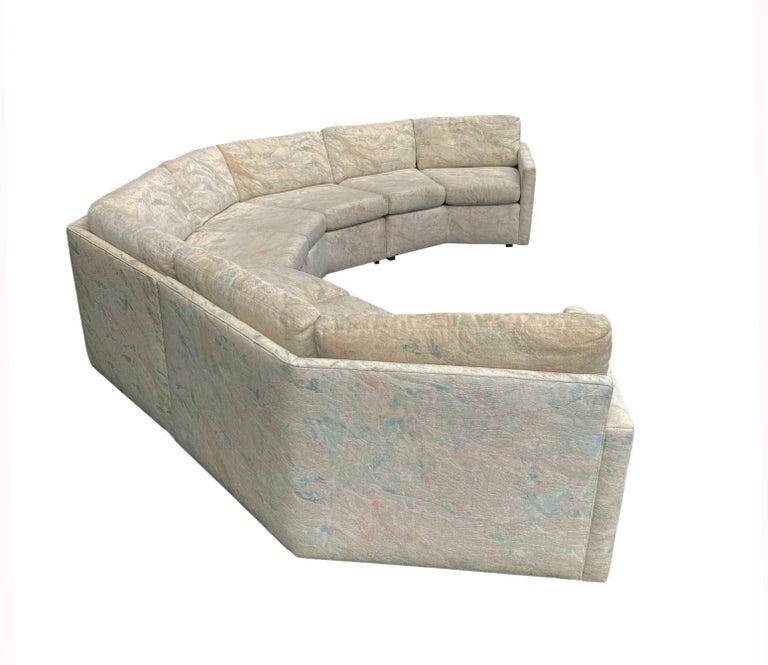 Mid-Century Modern Circular Sectional Sofa by Milo Baughman for Bernhardt For Sale 3