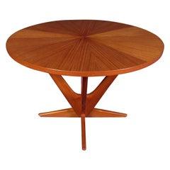 Mid-Century Modern Circular Side Table