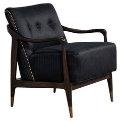 Mid-Century Modern Club Chair in the Style of Gio Ponti