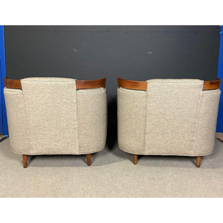 Mid-Century Modern Club Chair Pairing In Good Condition For Sale In Norwood, NJ