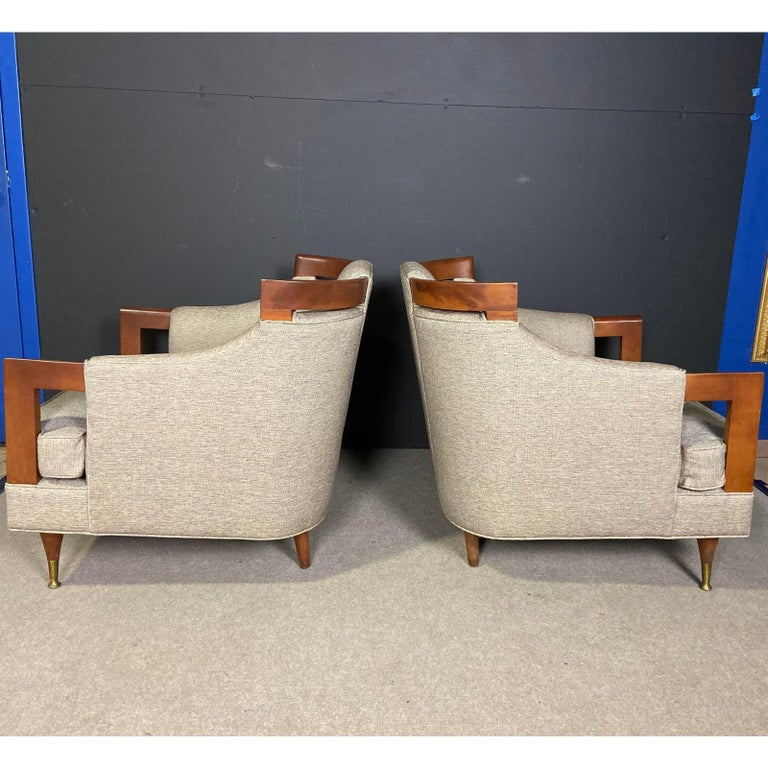 Mid-Century Modern Club Chair Pairing For Sale 3