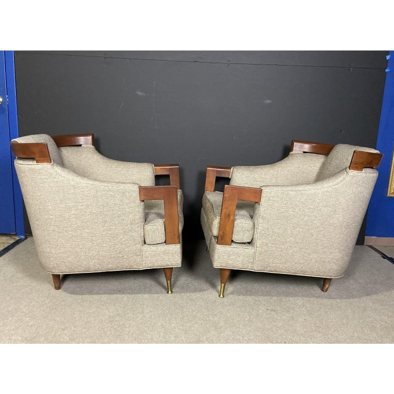 Mid-Century Modern Club Chair Pairing For Sale 4