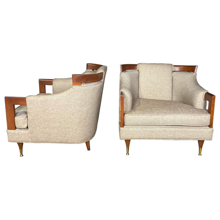 Mid-Century Modern Club Chair Pairing For Sale
