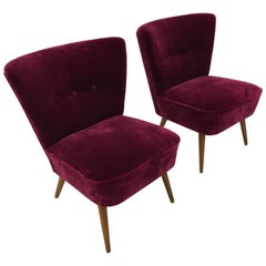 Mid-Century Modern Cocktail Chairs, France, 1950s