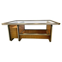 Mid-Century Modern Coffee Cocktail Table Ebony and Rosewood