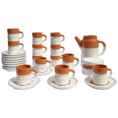 Mid-Century Modern Coffee Set by Willy Dougoud for Atelier Dougoud