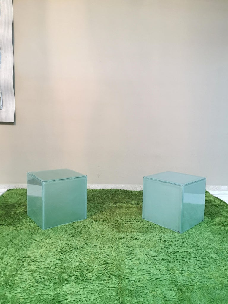 Mid-Century Modern Coffee Table in Glass, Italian Design, 1980s For Sale 8