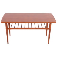 Mid-Century Modern Coffee Table, Vintage, Beechwood, Poland, 1960s