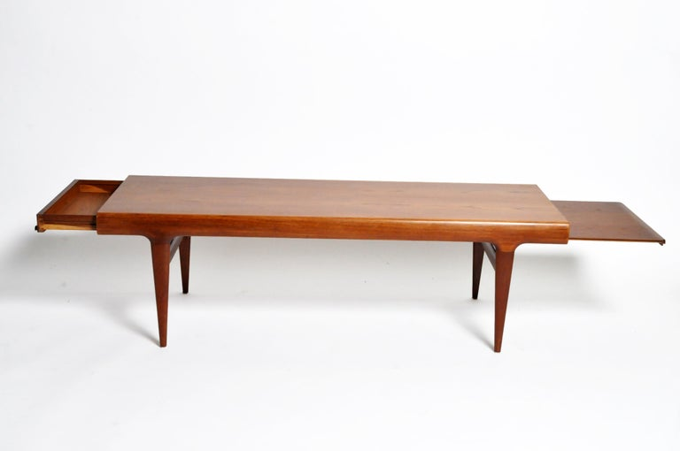 Danish Mid-Century Modern Coffee Table with Storage For Sale