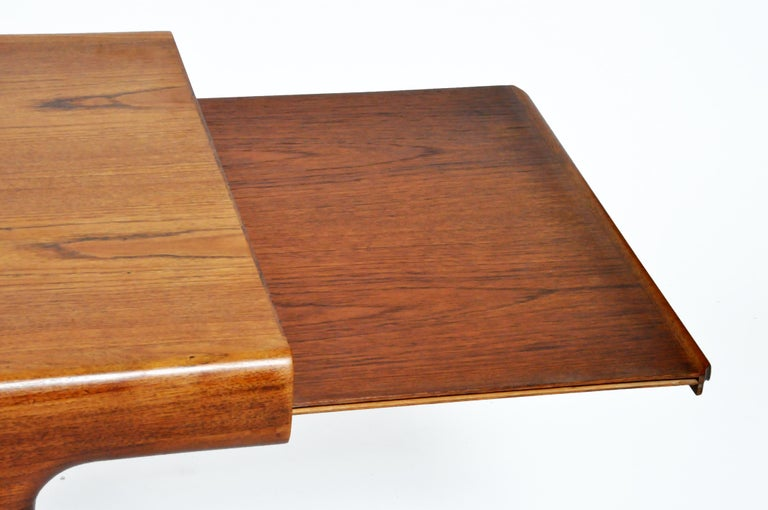 Teak Mid-Century Modern Coffee Table with Storage For Sale