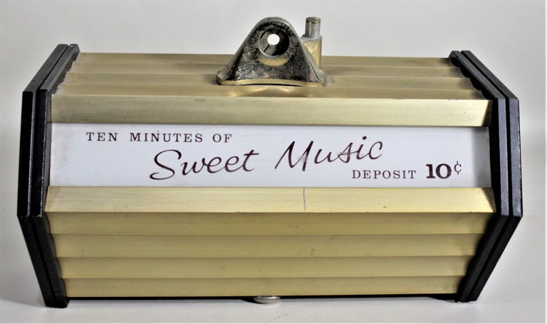 Mid-Century Modern Coin Operated Commercial Wall Mounted Music Box For Sale 1