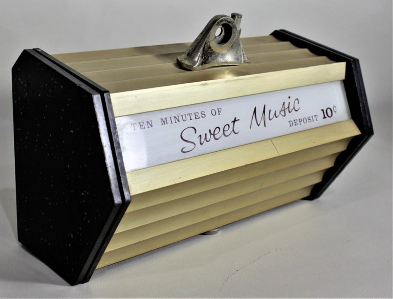 Mid-Century Modern Coin Operated Commercial Wall Mounted Music Box For Sale 2