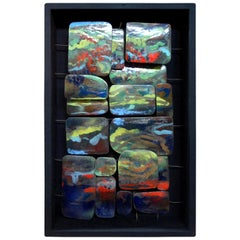 Mid-Century Modern Colorful Abstract Enamel Sculpture