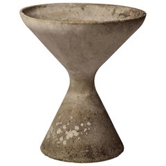 Mid-Century Modern Concrete Planter by Willy Guhl Hourglass