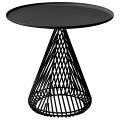 Mid-Century Modern Cono Table, Side Table by Bend Goods in Black
