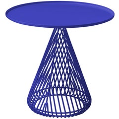 Mid-Century Modern Cono Table, Side Table by Bend Goods in Electric Blue