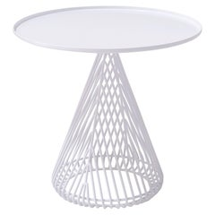 Mid-Century Modern Cono Table, Side Table by Bend Goods in White