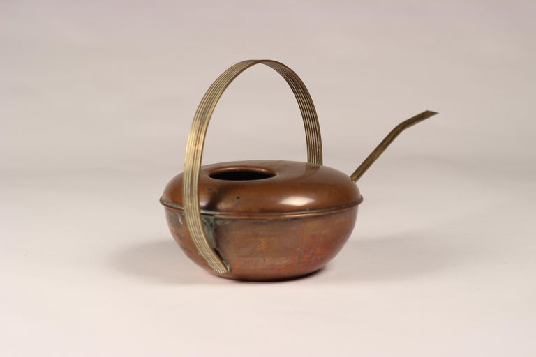 Mid-Century Modern Copper and Brass Watering Can For Sale 1