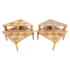 Mid-Century Modern Corner Tables by Lane Furniture, a Pair