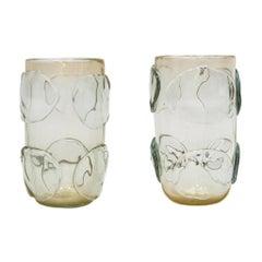 Mid-Century Modern Costantini Murano Glass, Italian, Pair of Vases